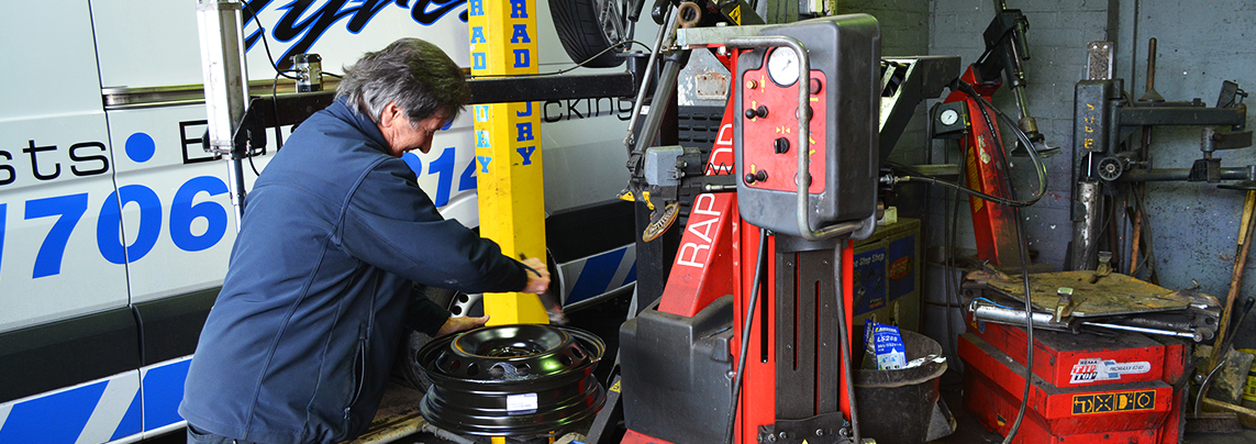 Tyre maintenance at Newbold Tyres