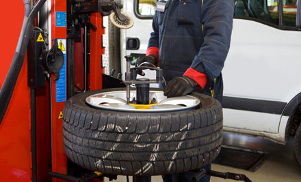 A damaged tyre can rupture during operation